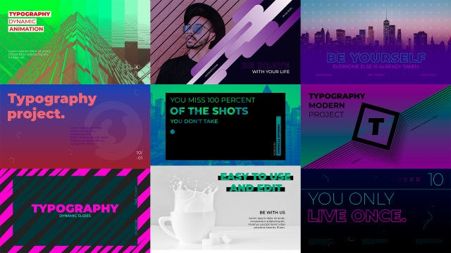 Modern Typography Scenes: After Effects Templates