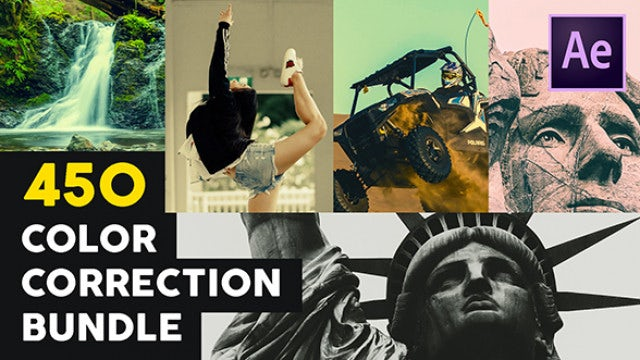 450 Color Correction Bundle: After Effects Presets