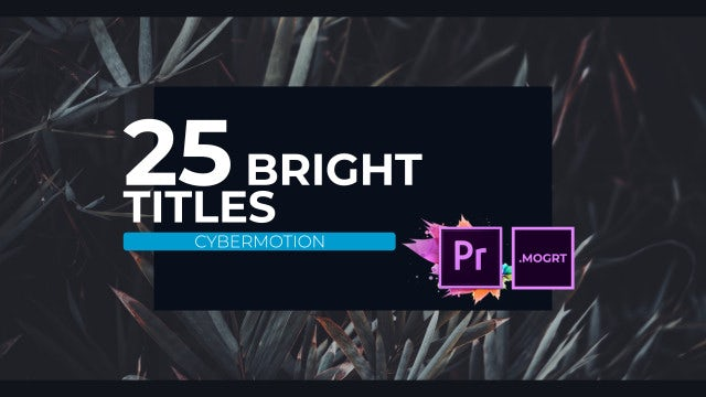 25 MOGRT Bright Corporate Titles: Motion Graphics Templates