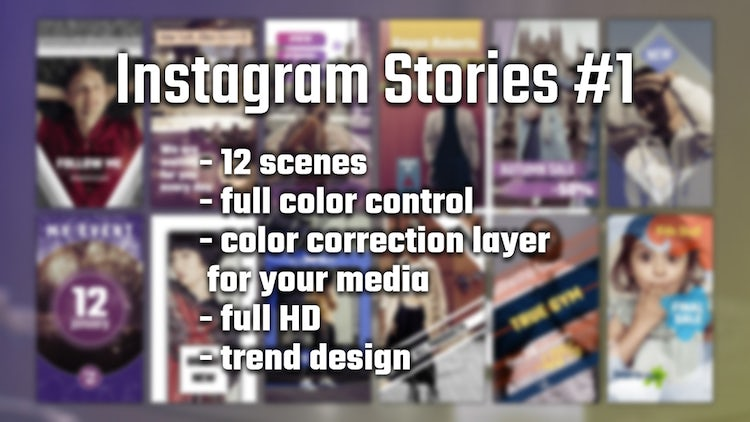 Instagram Stories #1: After Effects Templates