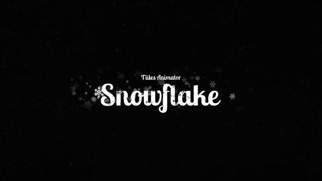 Titles Animator - Snowflake Reveal: Premiere Pro Templates