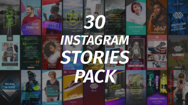 30 Instagram Stories Pack: After Effects Templates