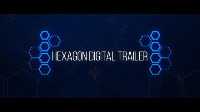 Hexagon Digital Trailer: After Effects Templates