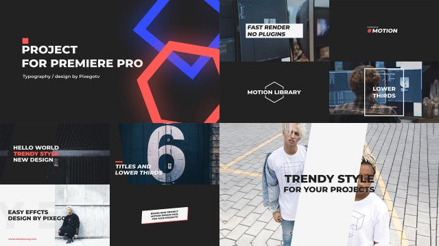 Typography / Titles Pack: Premiere Pro Templates