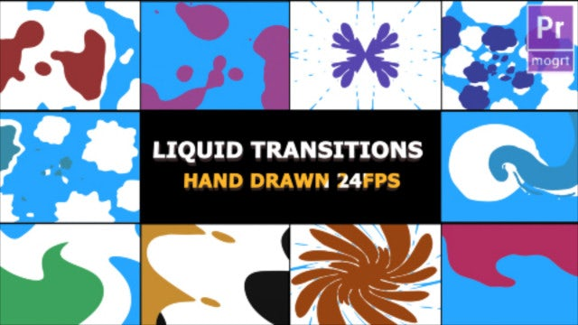 2D FX Liquid Transitions: Motion Graphics Templates