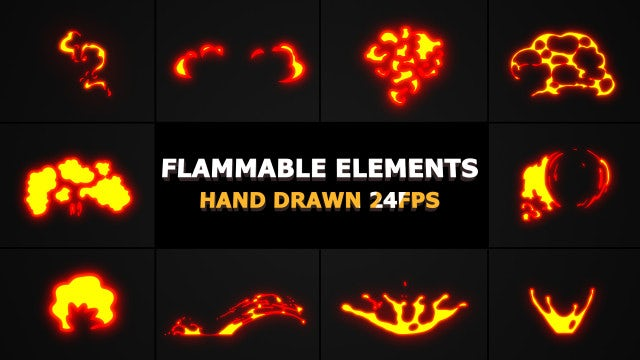 Flammable FX Elements: After Effects Templates