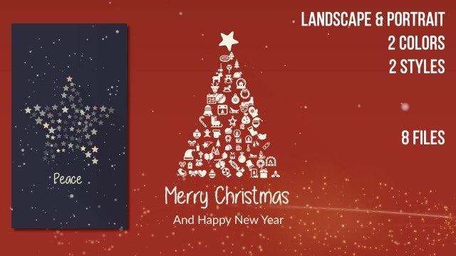 Portrait And Landscape Christmas Symbols: Stock Motion Graphics