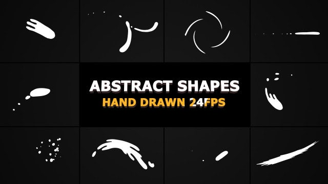 Abstract Shape Elements: After Effects Templates