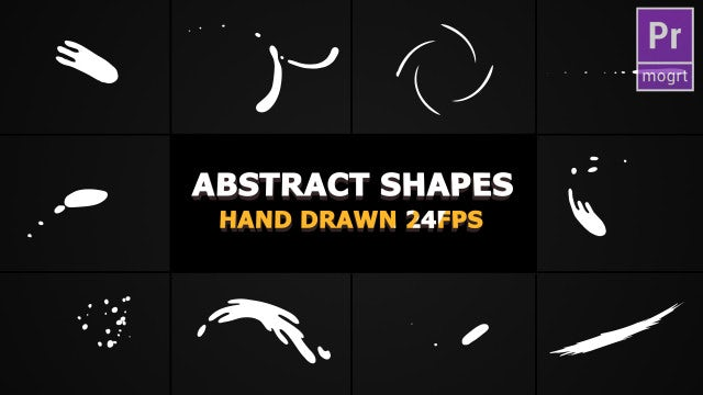 Abstract Shape Elements: Motion Graphics Templates