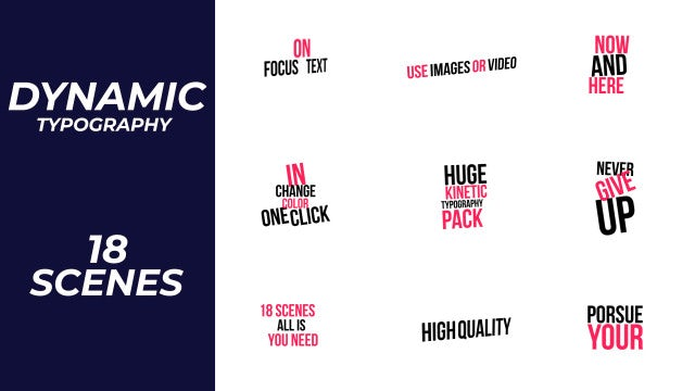 Dynamic Typography: Motion Graphics Templates