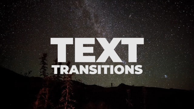 Universal Text Transitions: Premiere Pro Presets