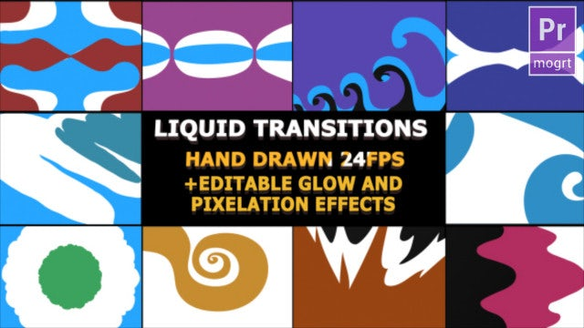 Funny Cartoon Transitions: Motion Graphics Templates