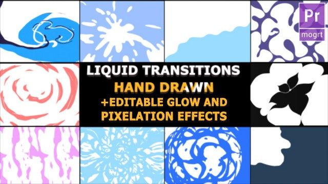 Hand Drawn Liquid Transitions: Motion Graphics Templates