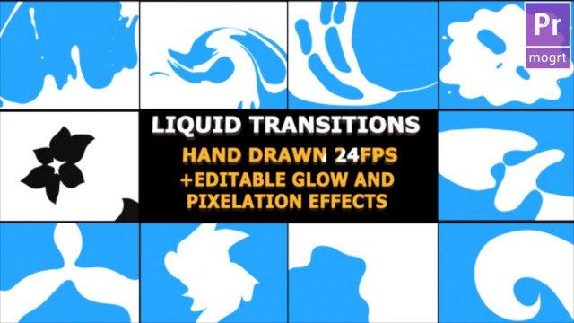 Liquid Motion Transitions: Motion Graphics Templates