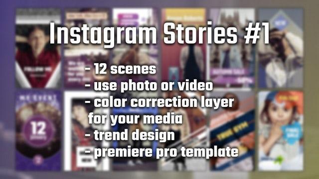 Instagram Stories #1: Premiere Pro Templates