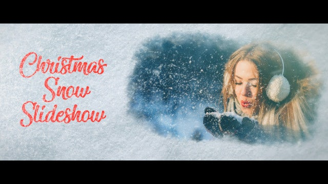 Christmas Snow Slideshow: Premiere Pro Templates