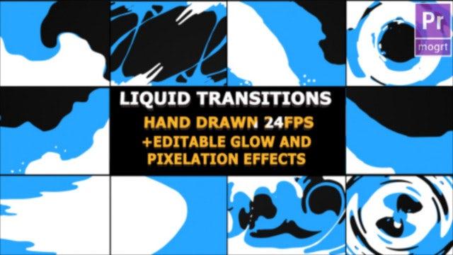 Liquid Transitions: Motion Graphics Templates