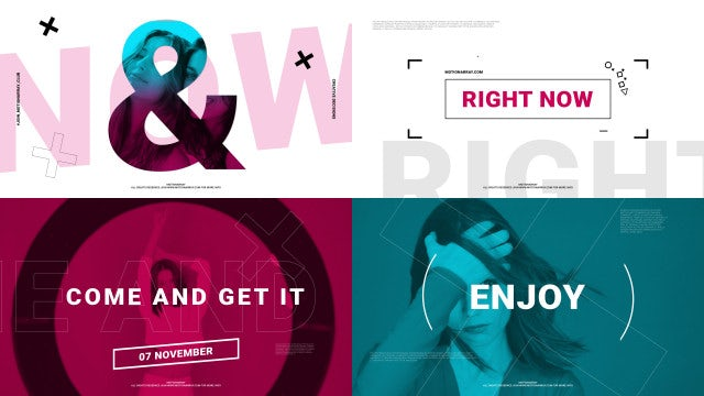 Fashion Stomp Opener: After Effects Templates