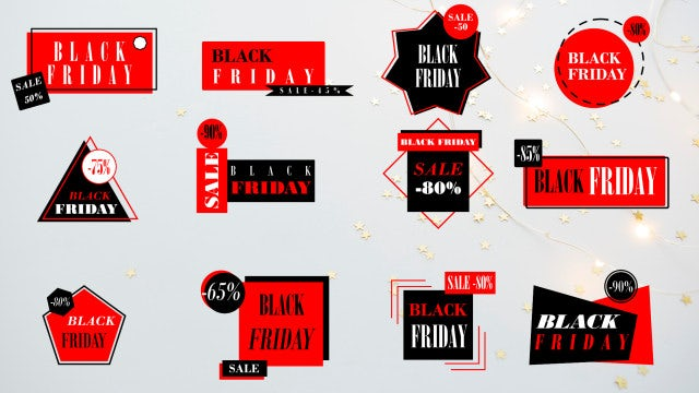 Black Friday Titles 4k: After Effects Templates