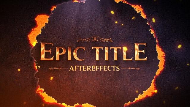 Epic Title: Motion Graphics Templates
