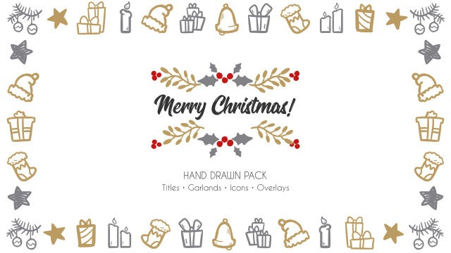 Merry Christmas. Hand Drawn Pack: Premiere Pro Templates