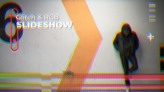 Glitch & RGB Slideshow: After Effects Templates