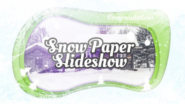Snow Paper Slideshow: Premiere Pro Templates