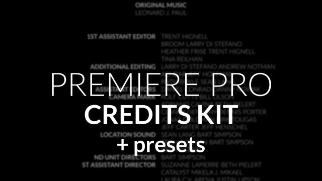 Credit Roll Kit For Premiere