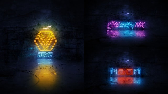 Grunge Neon Logo Reveal: After Effects Templates