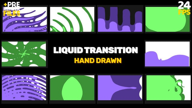 Spreading Liquids Transitions Pack: Stock Motion Graphics