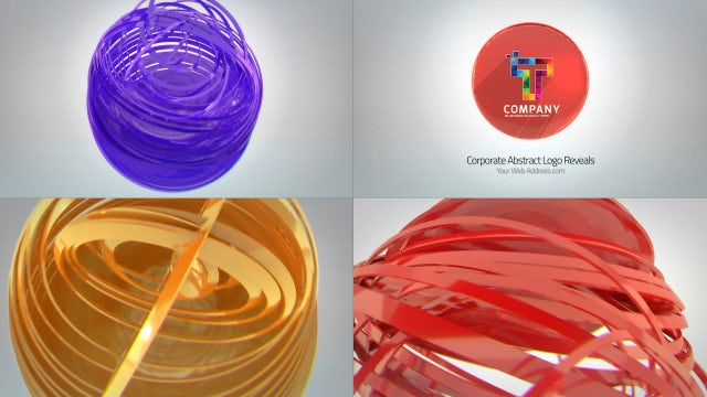Corporate Abstract Logo Reveals: After Effects Templates