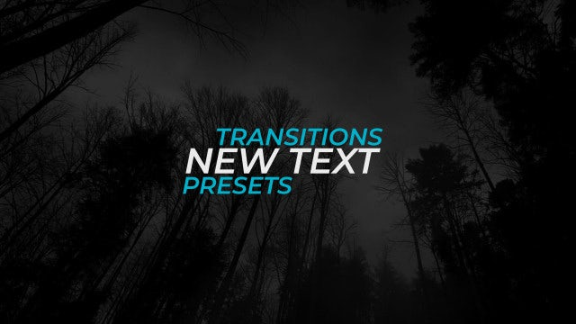 New Text Transitions Presets: Premiere Pro Presets