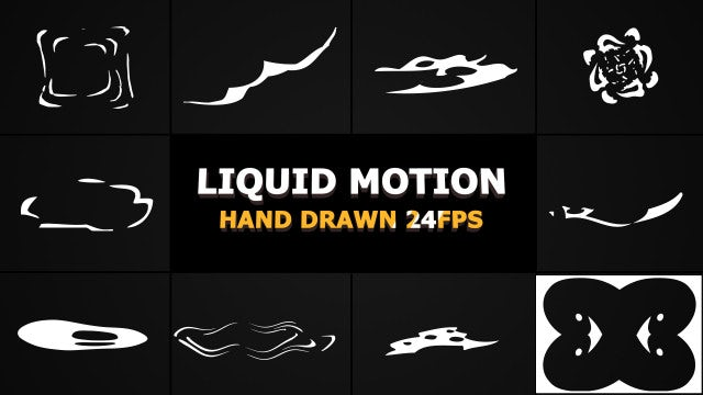 Abstract Liquid Motion Elements Pack: Stock Motion Graphics