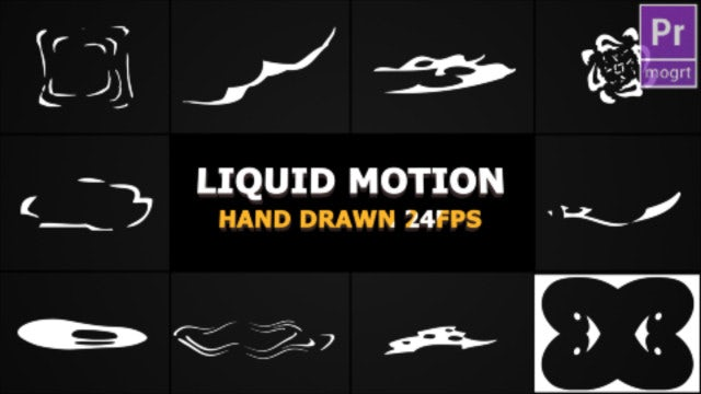 Abstract Liquid Elements: Motion Graphics Templates