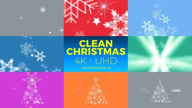 Clean Christmas 4K - UHD: After Effects Templates