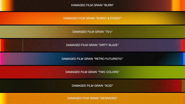 Damaged Film Overlay Collection: Stock Motion Graphics