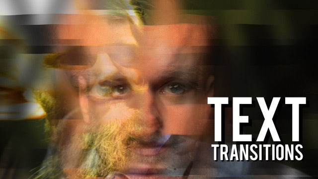 Text Transitions: Premiere Pro Templates