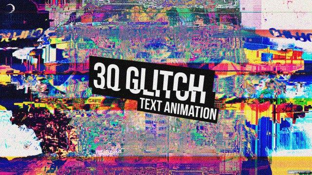 30 Glitch Titles: Premiere Pro Templates