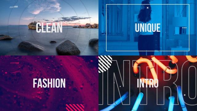 Trendy Fashion Opener Slideshow: Premiere Pro Templates