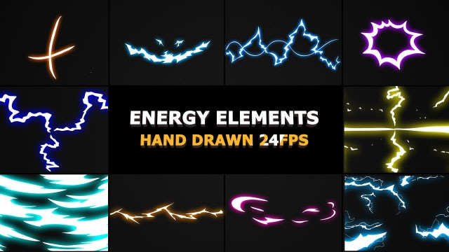 Flash FX Electrical Energy Elements - Stock Motion Graphics