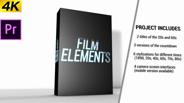 Movie Element Pack: Premiere Pro Templates