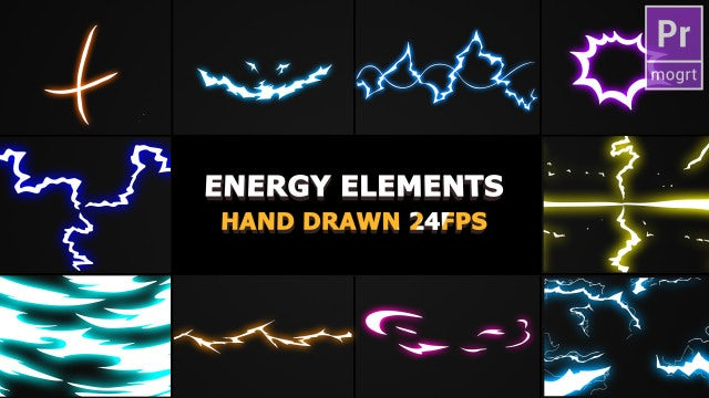 Flash FX Energy Elements And Transitions: Motion Graphics Templates