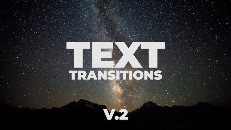 Universal Text Transitions V.2: Premiere Pro Presets