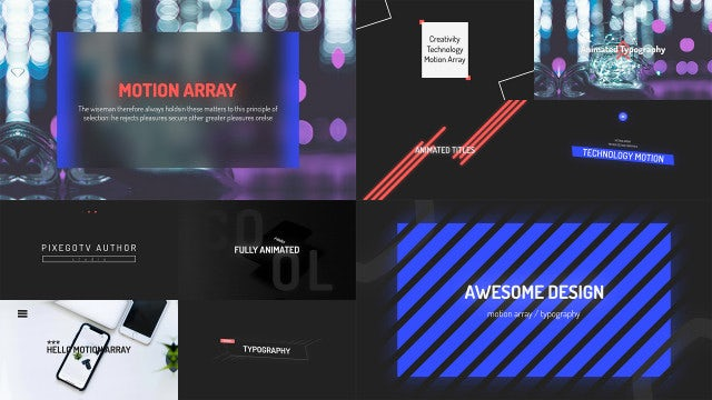 Typography / Lower Third: After Effects Templates