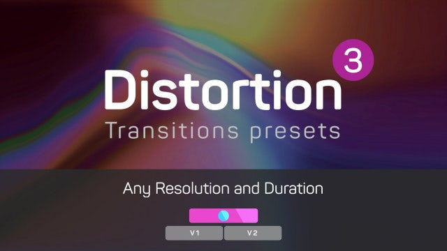 Distortion Transitions Presets 3: Premiere Pro Presets