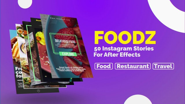 Foodz Instagram Stories: After Effects Templates
