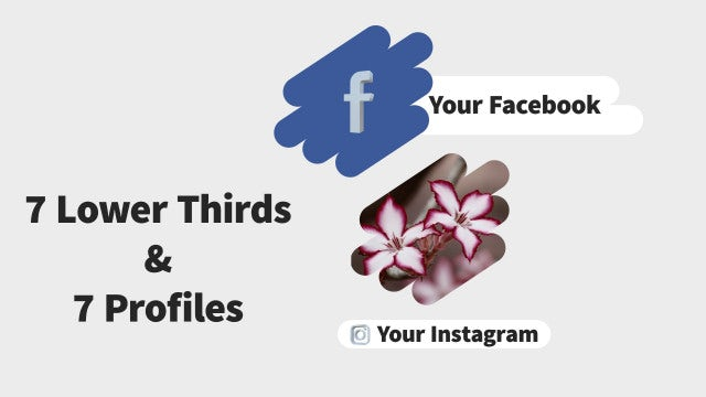 Social Media Lower Thirds & Profiles: After Effects Templates