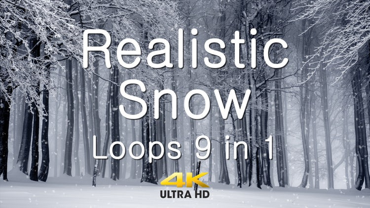 9-In-1 Realistic Snow Loops Pack: Stock Motion Graphics