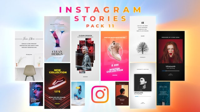 Instagram Stories Pack 11: After Effects Templates
