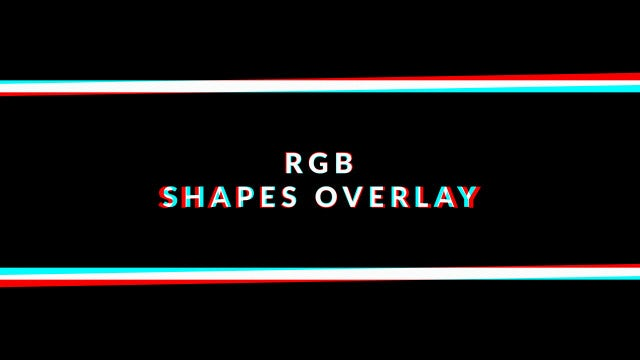 RGB Shapes Overlay Pack: Stock Motion Graphics
